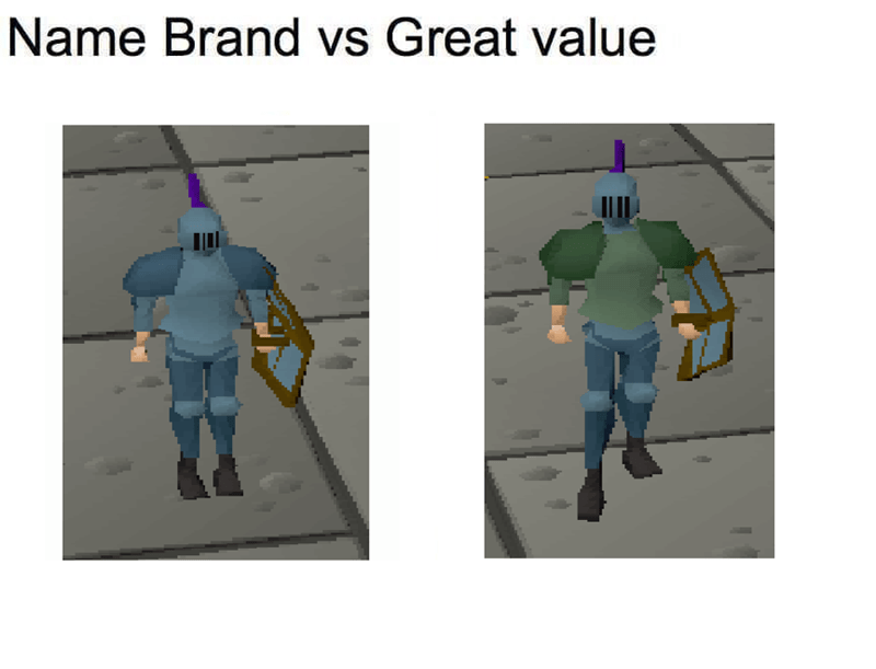 Joint - Name Brand vs Great value