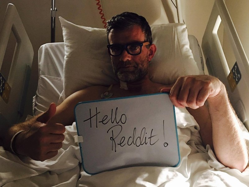 we are number 1 meme with pic of Stefan Karl in hospital bed