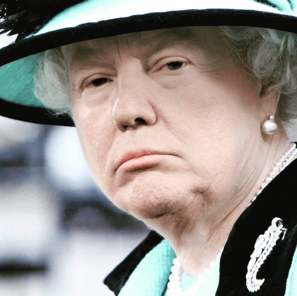 face swap Donald Trump and Queen Elizabeth - Face