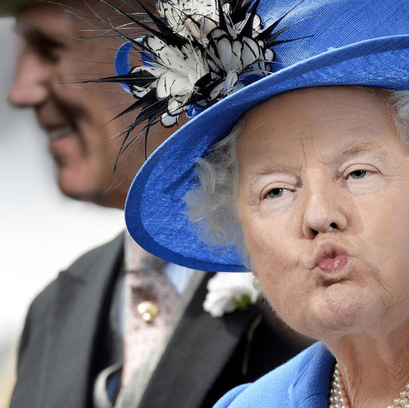 face swap Donald Trump and Queen Elizabeth - Nose
