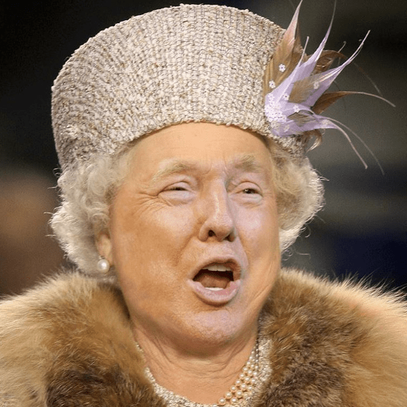 Donald Trump's Face Was Photoshopped Onto Queen Elizabeth