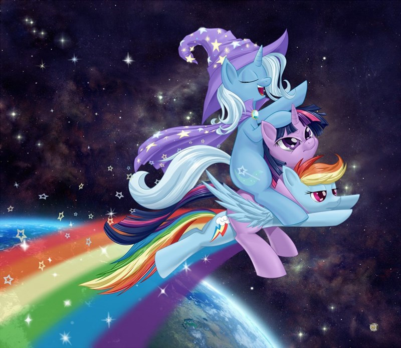 epic,the great and powerful trixie,twilight sparkle,rainbow dash