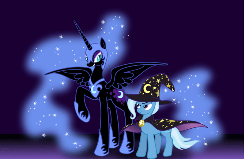 the great and powerful trixie,nightmare moon,princess luna