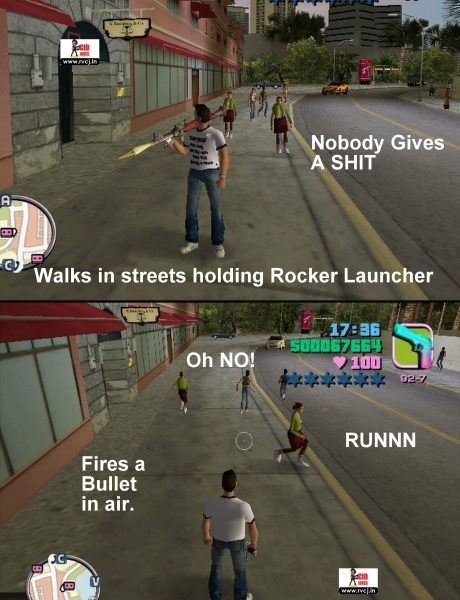 Pc game - CID www.vcin Nobody Gives A SHIT Walks in streets holding Rocker Launcher 17:36 500067664 100 92-7 Oh NO! RUNNN Fires a Bullet in air. www.rvcn
