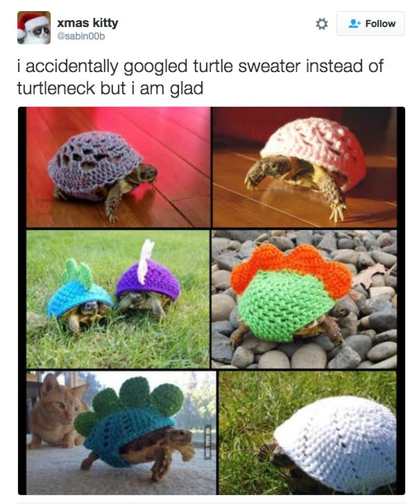 Tortoise - xmas kitty Follow @sabin00b i accidentally googled turtle sweater instead of turtleneck but i am glad WA COM