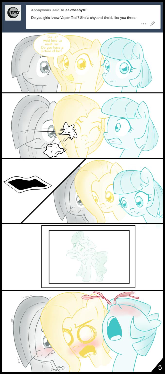 marble pie coco pommel comic vapor trail fluttershy - 8996010752