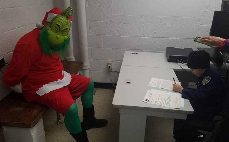 Arrest of the Day: 9-Year-Old Police Officer Puts The Grinch Who Stole Christmas Behind Bars