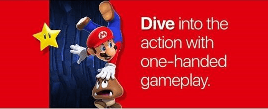 Animated cartoon - Dive into the action with one-handed gameplay.