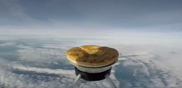 space enthusiasts send pie into space to see if it will cook better