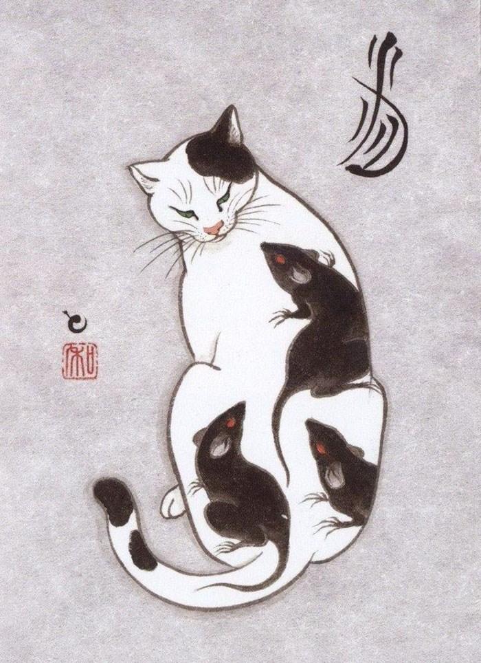 Kazuaki Horitomo cat tattoo - Cat