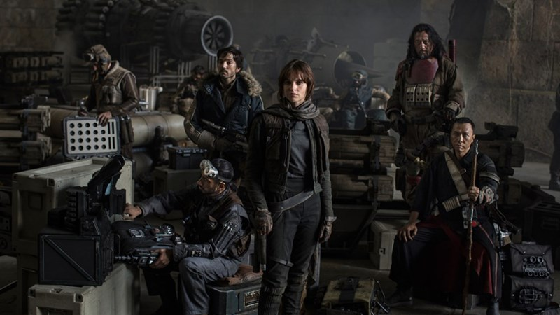 Fan art of the new Star Wars team of actors in a shot where they are all posing doing their thing.