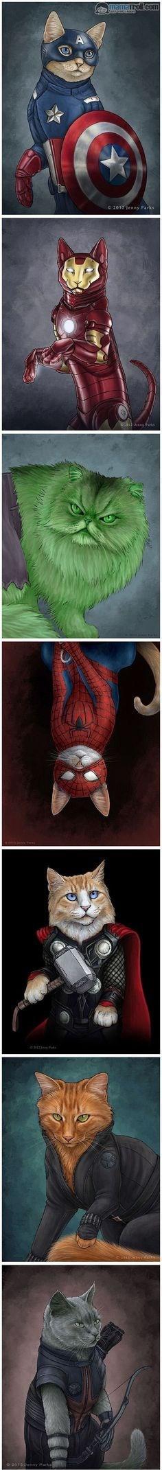 superheroes Cats - 8996537344