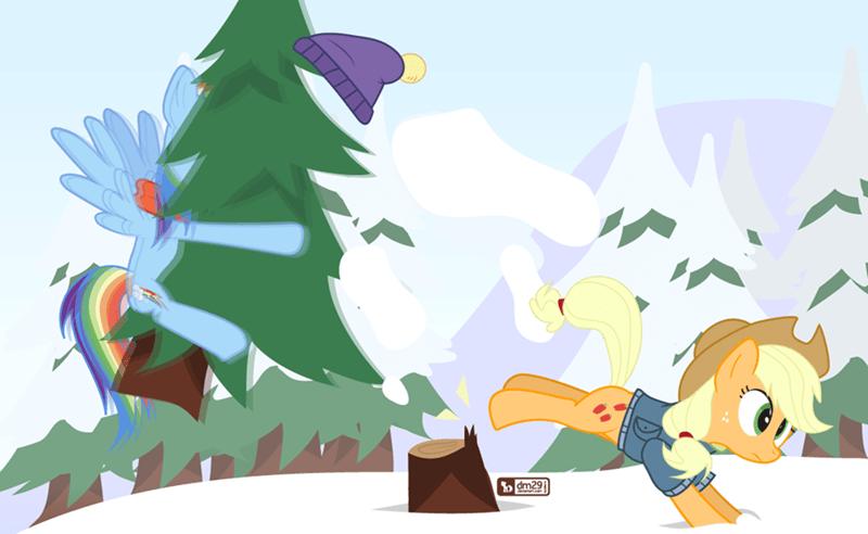 christmas applejack hearths-warming-eve rainbow dash - 8996557824