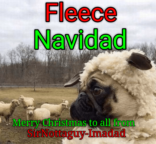 dogs feliz navidad merry christmas fleece caption - 8996733184
