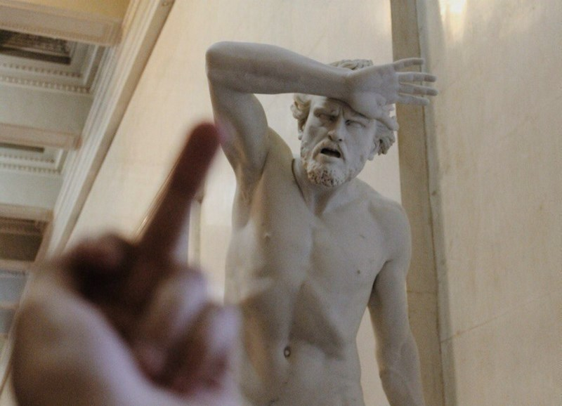classical art,middle finger,image