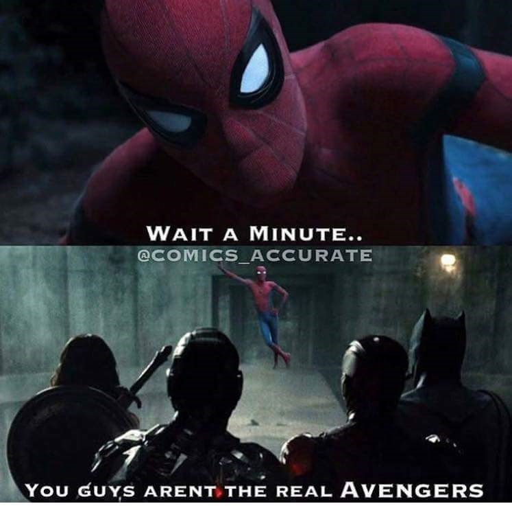 justice league,Spider-Man