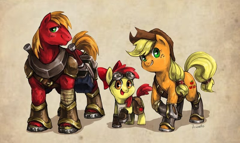 applejack,apple bloom,Big Macintosh
