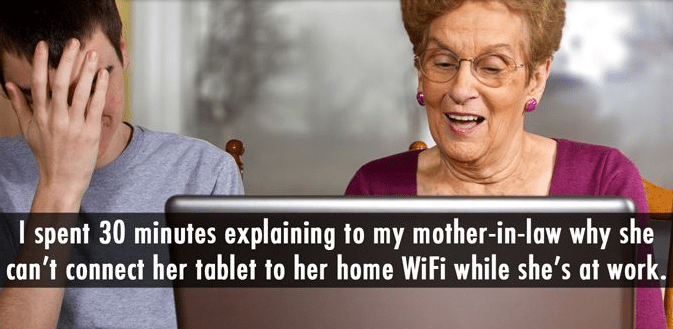 Skin - I spent 30 minutes explaining to my mother-in-law why she can't connect her tablet to her home WiFi while she's at work