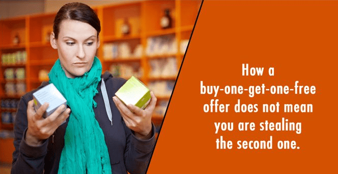Product - How a buy-one-get-one-free offer does not mean you are stealing the second on