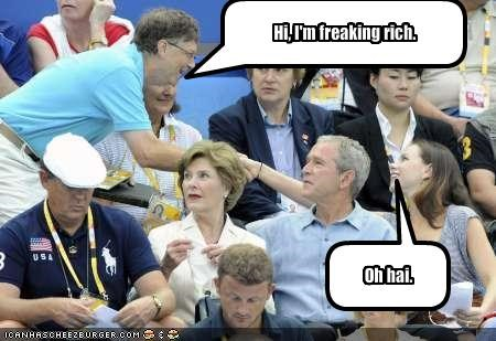 Barbara Bush,Bill Gates,First Lady,george w bush,Laura Bush,president,Republicans