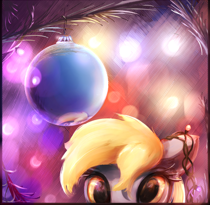 christmas hearths-warming-eve derpy hooves acting like animals - 8997984256