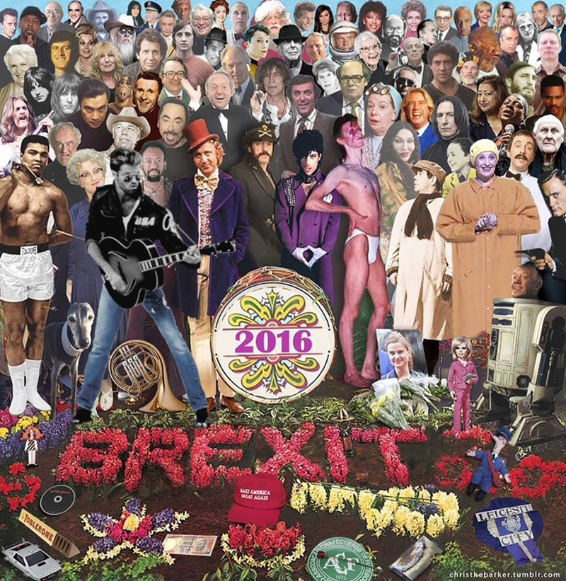 artist posts 2016 update of beatles sgt pepper for lost celebrities
