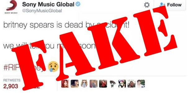 hackers attack sony music twitter tweets lie that britney spears is dead