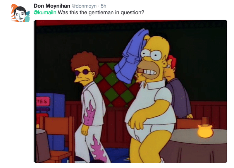 Animated cartoon - Don Moynihan @donmoyn 5h @kumailn Was this the gentleman in question? TES