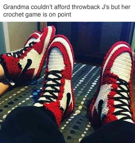 grandma-crochet-game-is-on-point-with-these-throwback-nikes