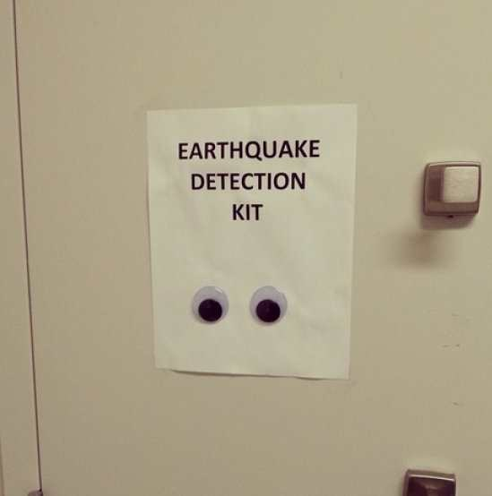 signs googly eyes earthquake