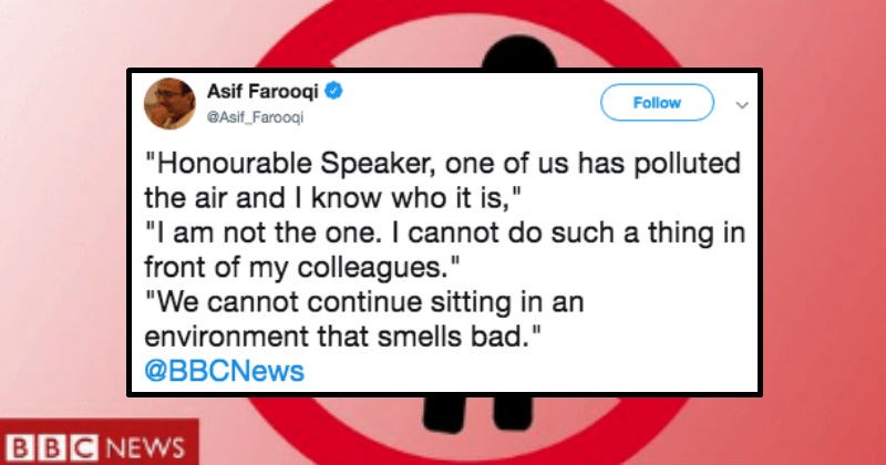 fart in kenyan government shuts down assembly for full 10 minutes
