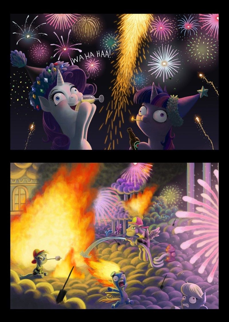 repost maybe new years spitfire derpy hooves twilight sparkle rarity comic - 8999334144