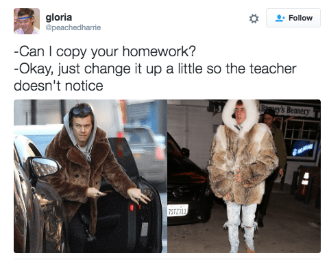 Clothing - gloria @peachedharie Follow -Can I copy your homework? -Okay, just change it up a little so the teacher doesn't notice Bry's Beanery