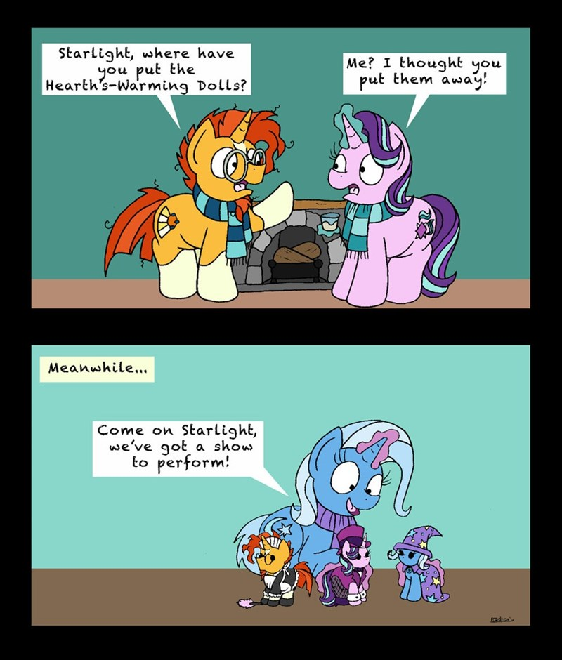 the great and powerful trixie hearths-warming-eve sunburst starlight glimmer comic - 9000138496