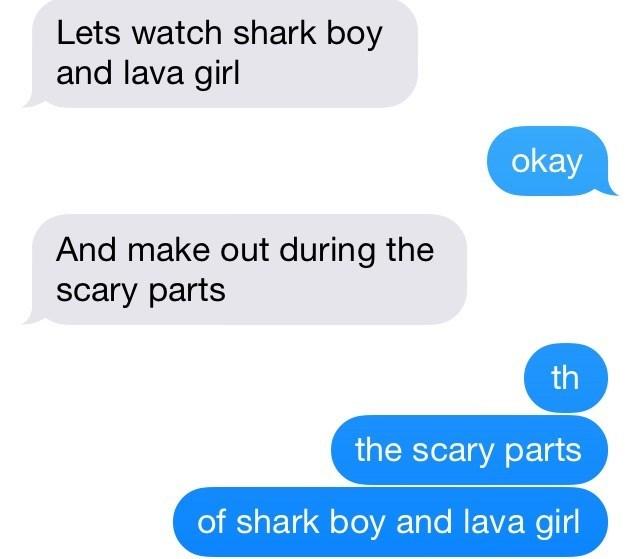 shark boy and lava girl text message - 9000384768