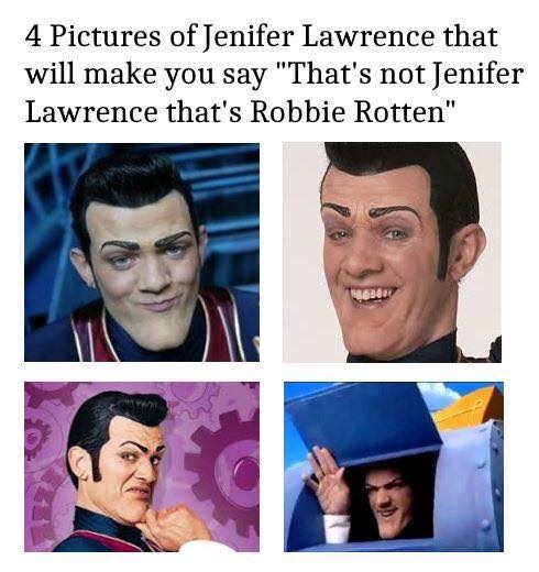 we are number one robbie rotten
