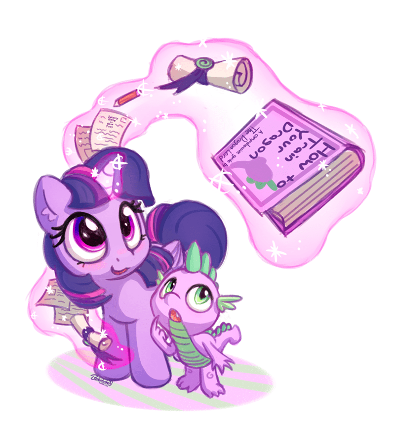 spike,twilight sparkle,subtle propaganda