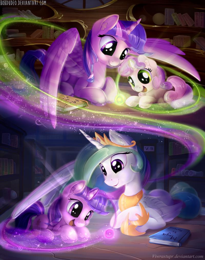 Sweetie Belle twilight sparkle princess celestia - 9000844800