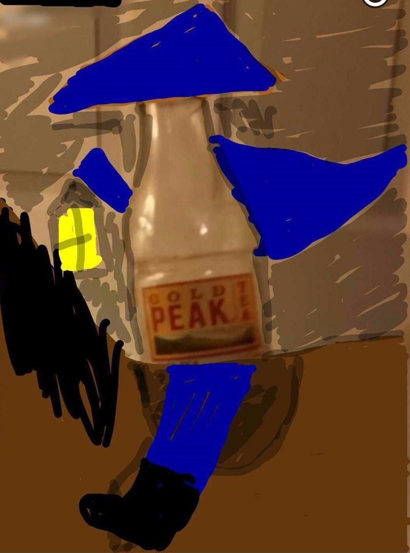 snapchat pun - Blue - COLD PEAK