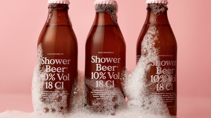 microbrewery makes shower beer