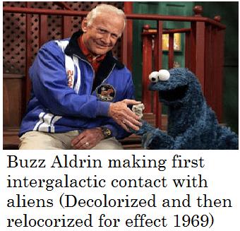 uber dank meme of Buzz Aldrin and Cookie Monster
