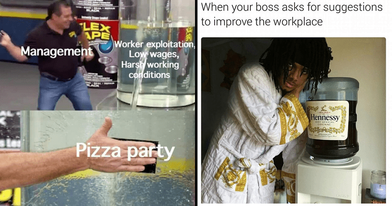 Funny memes about work.