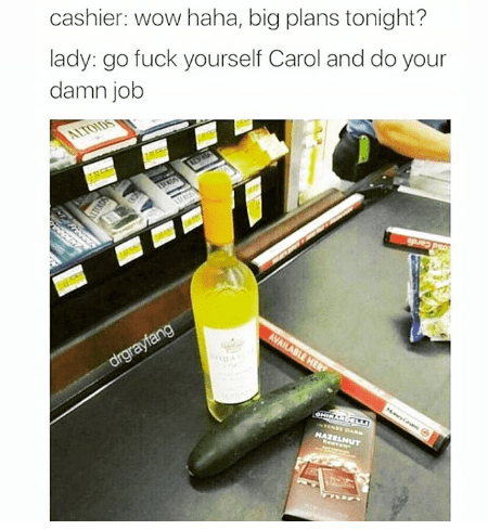 Product - cashier: wow haha, big plans tonight? lady: go fuck yourself Carol and do your damn job ALTOIDS AVAILABLE HER drgrayfang HATELNUT