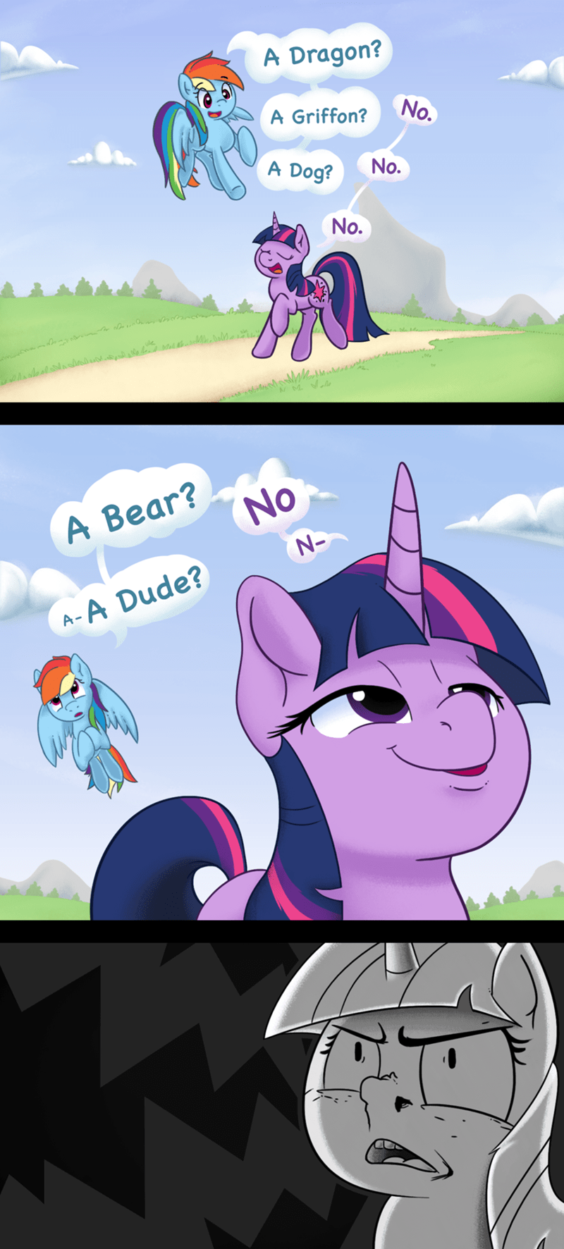 twilight sparkle,rule 63,comic,rainbow dash