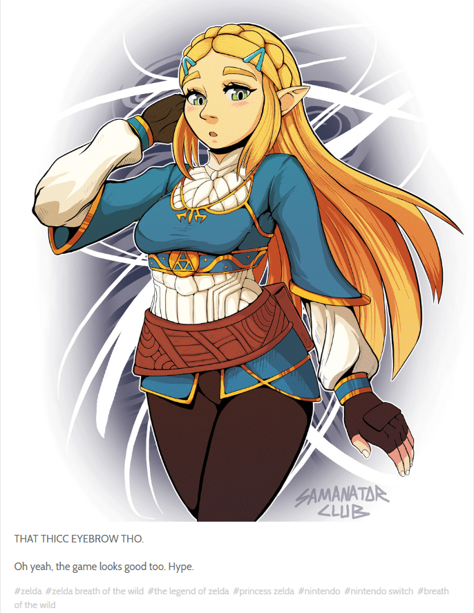 Since Her Reveal Zelda S New Look Has Been A Hot Topic And