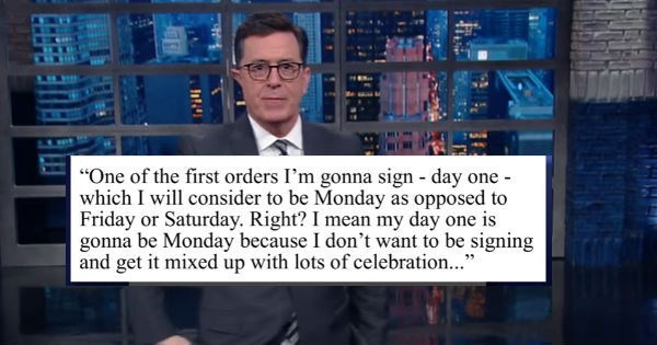 video-of-stephen-colbert-talking-about-how-donald-trump-appears-ready-for-day-one-ish