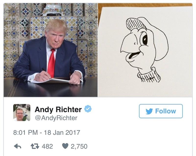 Text - Andy Richter @AndyRichter Follow 8:01 PM - 18 Jan 2017 482 2,750
