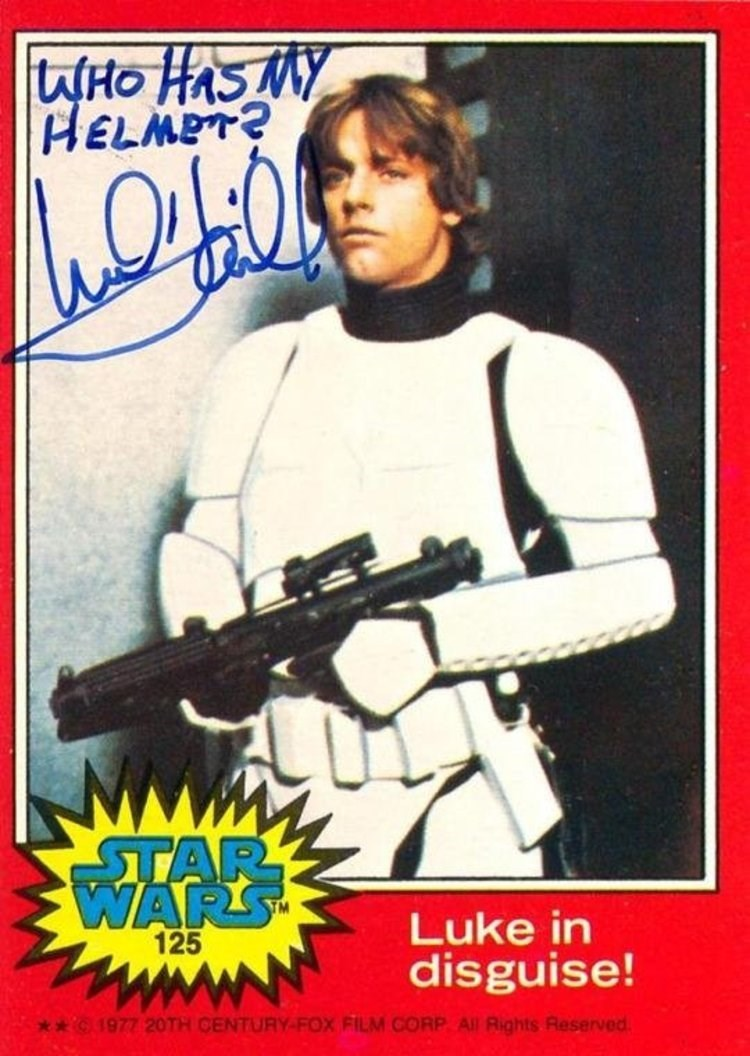Poster - WHO HAS MY HELMET? STAR WARS Luke in disguise! 125 G 1977 20TH CENTURY-FOX FILM CORP All Rights Reserved