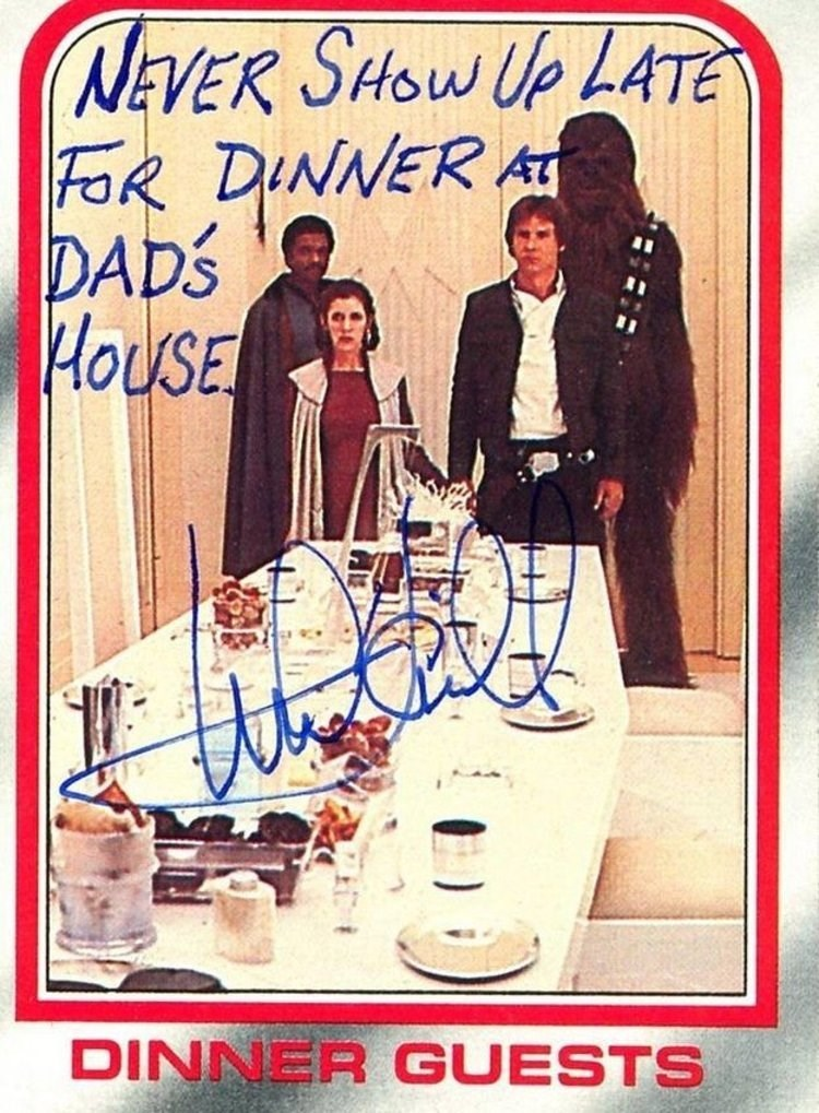 Vintage advertisement - NEVER SHOW UP LATE FOR DINNER A DAD'S HOUSE DINNER GUESTS
