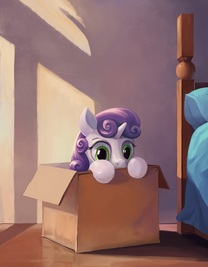 Sweetie Belle,if i fits i sits,acting like animals